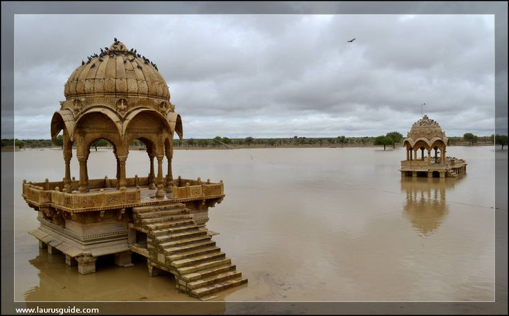 Gadisar Lake  Excavated in 1367 by Rawal Gadsi Singh, it is a scenic rainwater lake surrounded by the small temples and shrines of Amar Sagar. Earlier, this lake was used to be the main water source of Jaisalmer.