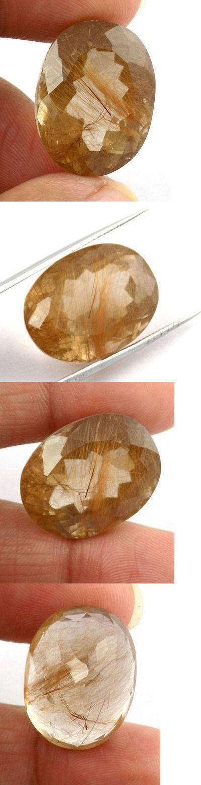 Rutilated Quartz 181099: 1 Pcs Natural Golden Rutile Quartz Oval 16X21mm 29.68Cts Normal Cut Gemstone -> BUY IT NOW ONLY: $39.91 on eBay!