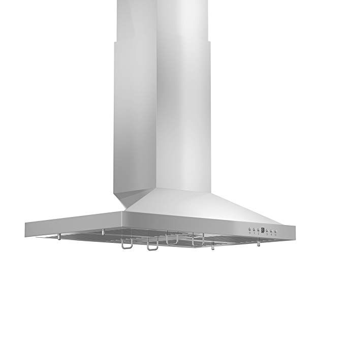 36 Artisan Series Stainless Steel Black Island Range Hood 600 Cfm Fan Kitchen Island With Stove Kitchen Island Range Hood Island Range Hood