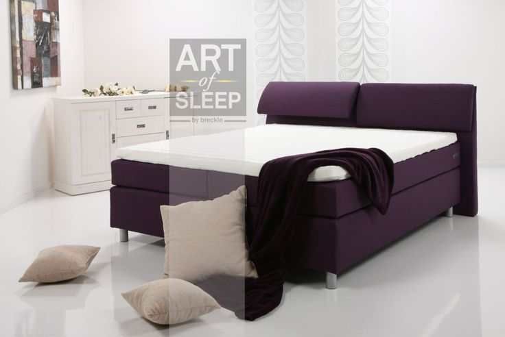 AMY Boxspring Bett / Doppelbett / Einzelbett dunkelblau  180 x 220 | Dunkelblau | Härtegrad 2+3