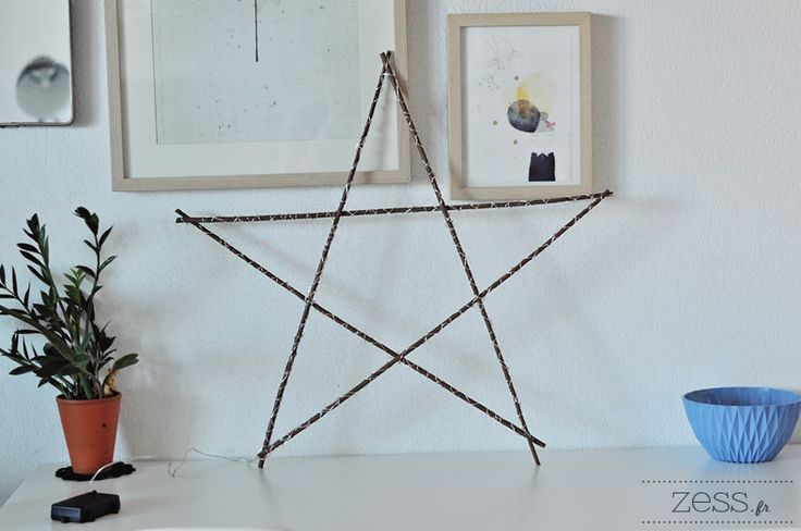 DIY TUTO: l'étoile lumineuse avec des branches - Zess.fr // Lifestyle . mode . déco . maman . DIY