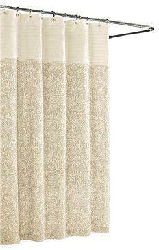 $132 Aurelia Scroll Shower Curtain,  - traditional - shower curtains - Luxor Linens