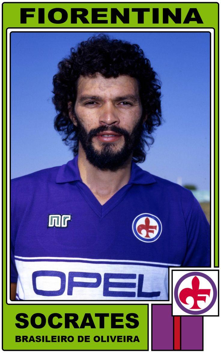 Socrates with Fiorentina, 1984.