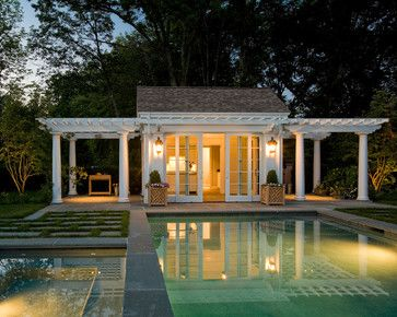 Pool Cabana Guest House Plans | Pool Cabana - traditional - pool - boston - by Merrimack Design ...