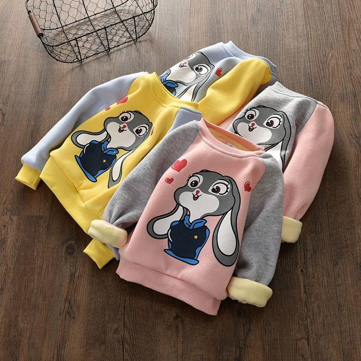 Winter Children Girls Clothing Casual Kids Velvet Tops Costume Long Sleeve T Shirt For Girls Sweatshirt Kids Clothes 3-8 Years //Price: $21.06 //     #kids