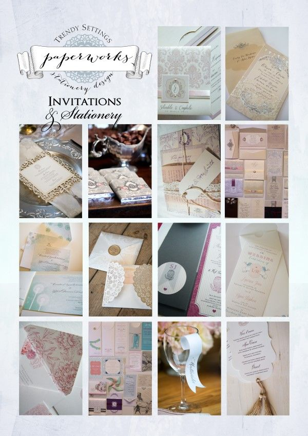 Collection of beautiful wedding invitations
