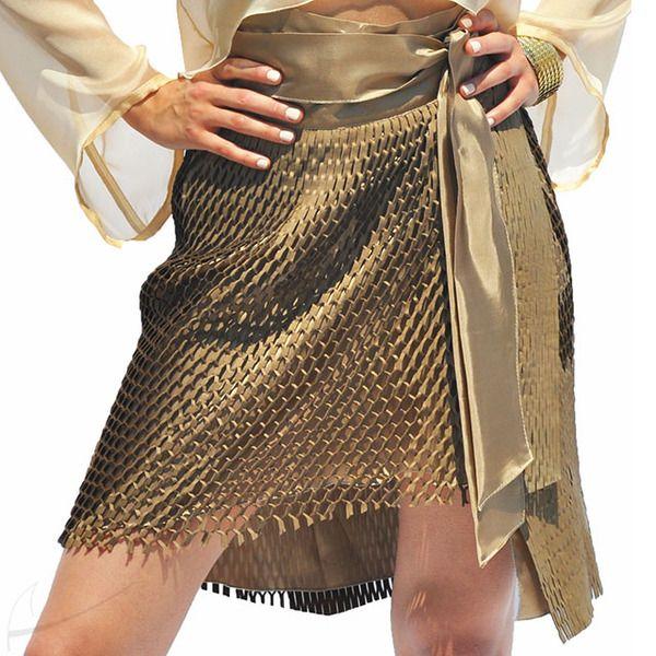 Ażurowa spódnica wiązana w talii w Łatka fashion na DaWanda.com