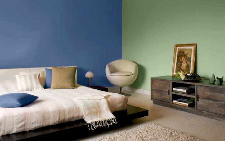 Bedroom Combine Moody Purple 9175 With Forest Foliage 7690 Blue Colour Family Bedrooms Wall Paint Colours And Room Inspiration