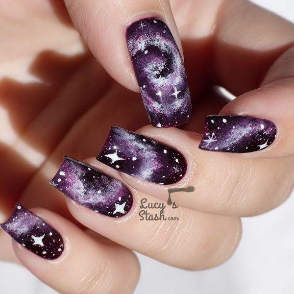 Best 25+ Galaxy nail art ideas on Pinterest