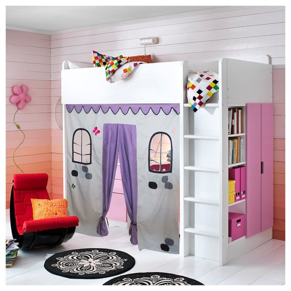 Bunk Bed Playhouse / Bed Tent / Loft Bed Curtain   Free Design And Colors  Customization