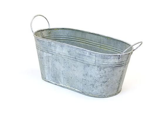 2 Galvanized Tin Tubs Rustic Country Tubs Ice And Soda Etsy