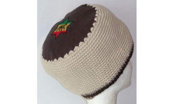 Chapeau rasta dessus en cuiret tour en fil mérinos -  Volume de dreads taille S  EN VENTE SUR : www.maidmarioncreation.com