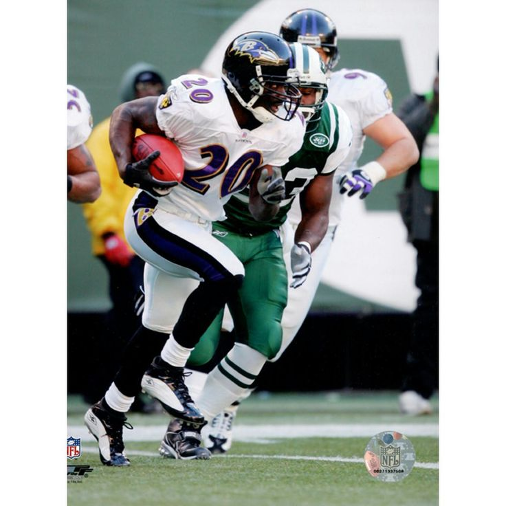 Ed Reed Ravens running w ball 8x10