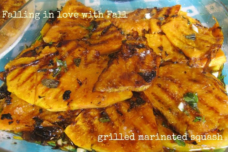 Divina's grlled marinated squash