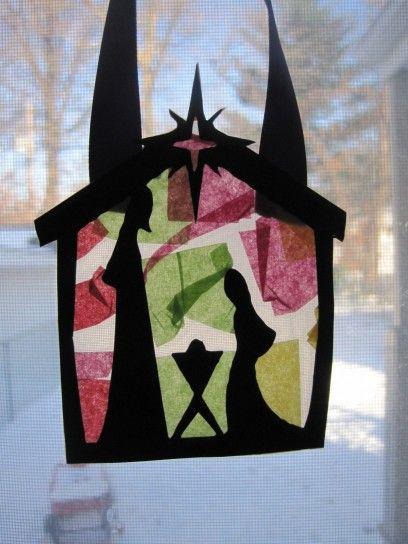 Sagoma+di+presepe+in+cartone+da+appendere - Un%27idea+graziosa+e+fai+da+te+per+decorare+le+finestre.
