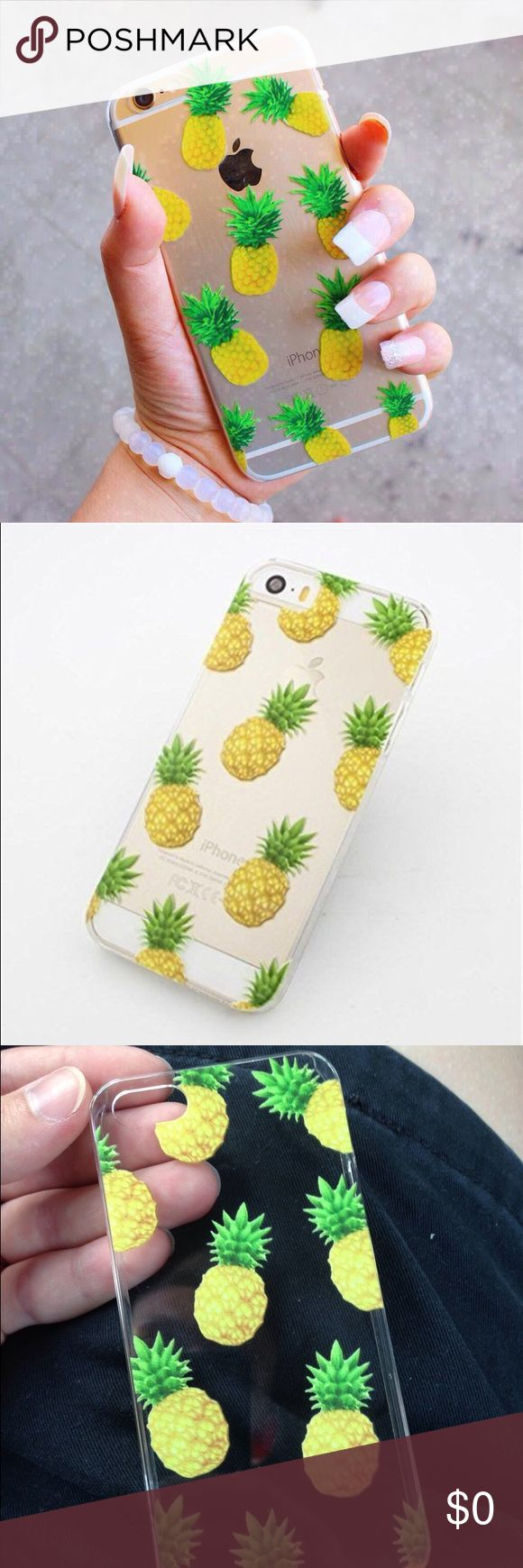 i Phone 6 Pineapple Case i Phone 6 Pineapple Case  Cute tumblr Pineapple phone case with bright colors   Features: •Case is transparent so oh can still show off your phones design and natural color •Cute Pineapple graphics •Bright colors  NOTE: The last two pics are the pictures of the actual case the first is a pic from tumblr that has the same graphics Accessories Phone Cases