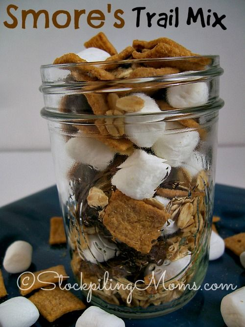 S'mores Trail Mix is so easy to make with only 4 ingredients! The kids (and adults) will LOVE it! #MomsBestCereals #MomsBest http://www.stockpilingmoms.com/2014/06/smores-trail-mix/