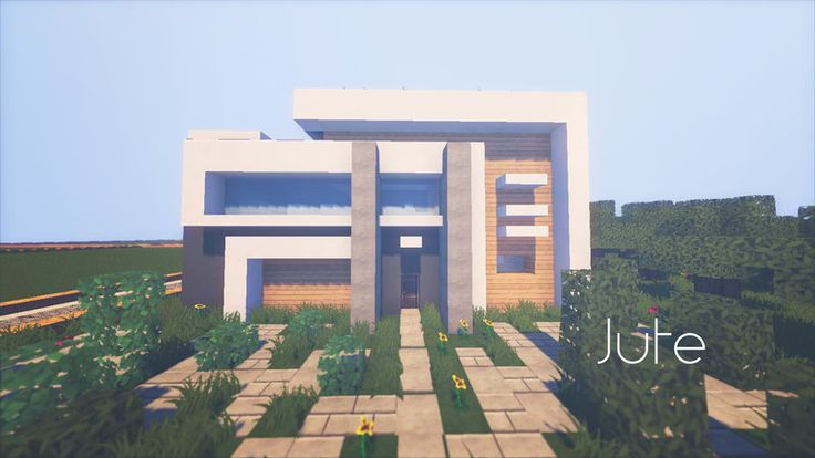 Jute complex minecraft modern house by lil lintu for Minecraft modern house download 1 8
