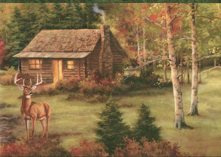 Group Of Elk Hunting Wallpaper Border