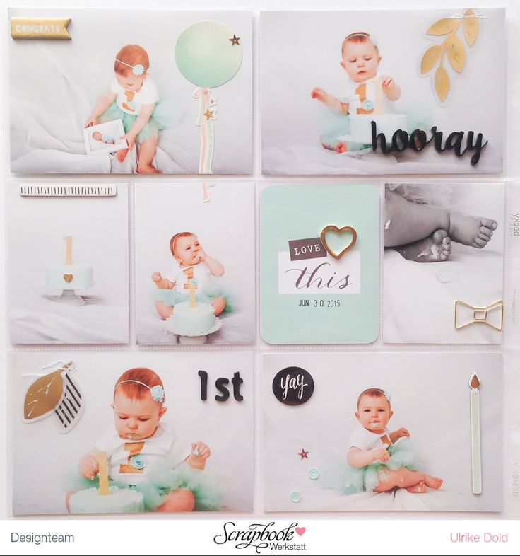 Project Life Seite mit Crate Paper - Maggie Holmes Confetti & Dear Lizzy Fine and Dandy & Polka Dot Party - von Ulrike Dold