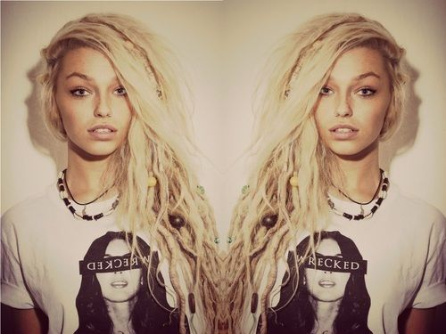 girls with half dreads - Google Search