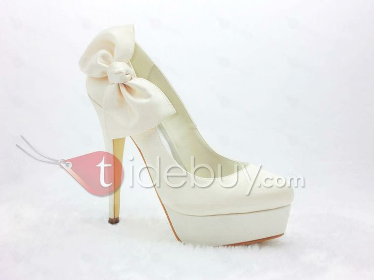 Honey Satin Stiletto Heels Closed Toe Prom/Evening Champagne Color Shoes : Tidebuy.com