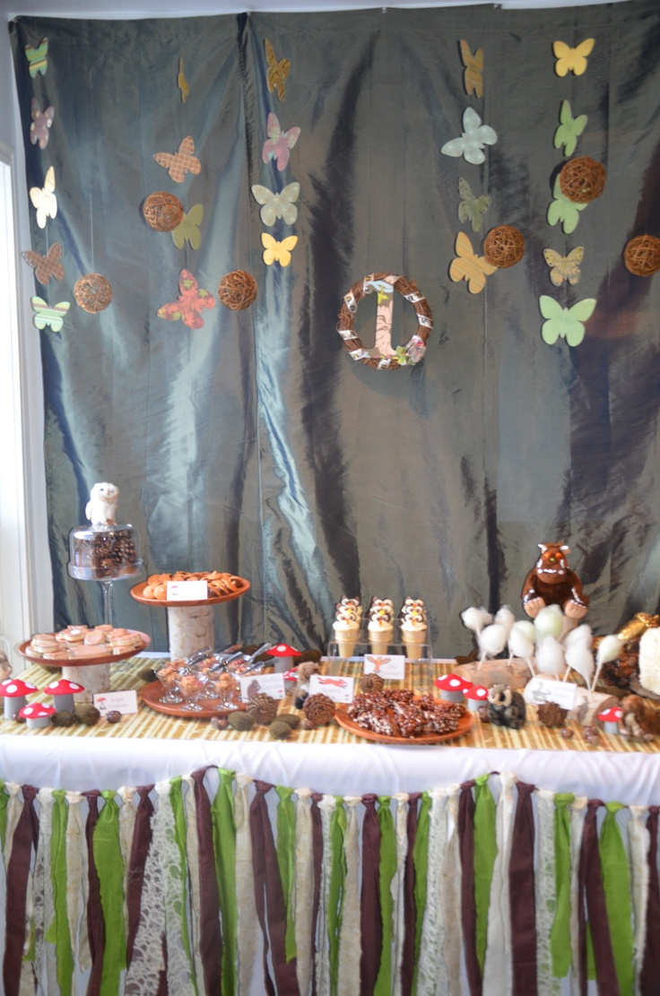 Gruffalo Themed first birthday party. www.sweettoothevents.ca