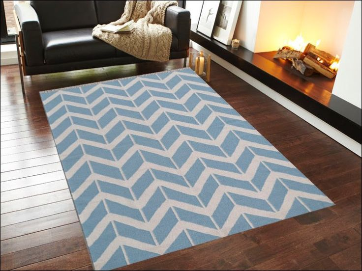 The Blue Handwoven Woollen Durrie Rug is a beautiful modern chevron floor rug. Low maintenance, durable and contemporary, this rug will make a stunning feature in your home.  Available here: https://www.rugsofbeauty.com.au/collections/chevron/products/handwoven-woollen-durrie-rug-sweden-1054-blue?variant=21953256449