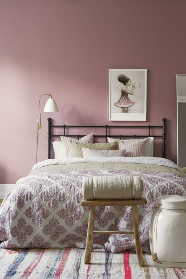 19 besten Schlafzimmer Bilder auf Pinterest Altrosa wandfarbe - wandgestaltung für schlafzimmer