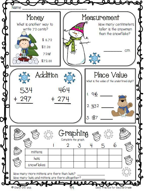 math morning work for second grade includes telling time counting money graphing word. Black Bedroom Furniture Sets. Home Design Ideas