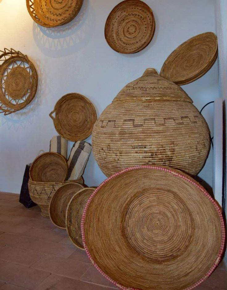 Traditional handmade baskets in Urzulei, Ogliastra