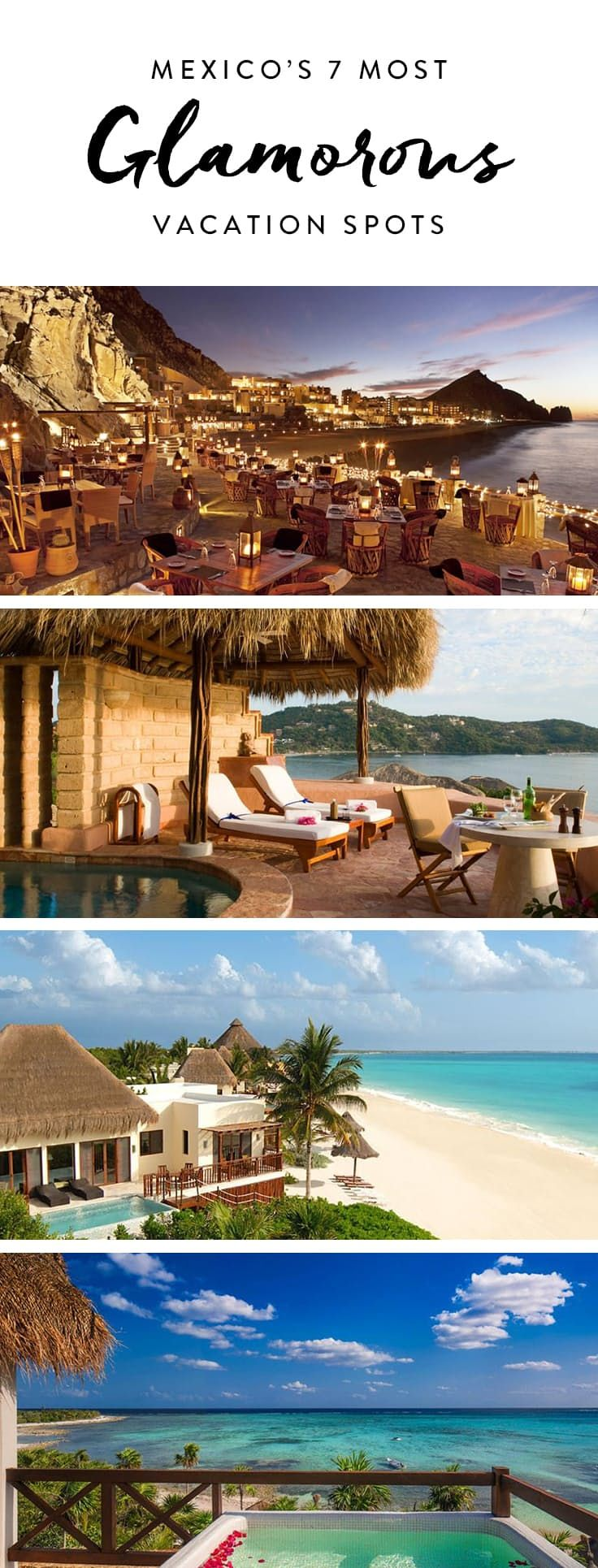 Mexico's 7 Most Glamorous Vacation Spots via @PureWow