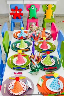 Fiestas monsters and mesas on pinterest - Ideas fiesta cumpleanos infantil ...