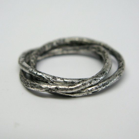Sterling Silver Vine Rolling Ring by janiceartjewelry on Etsy.