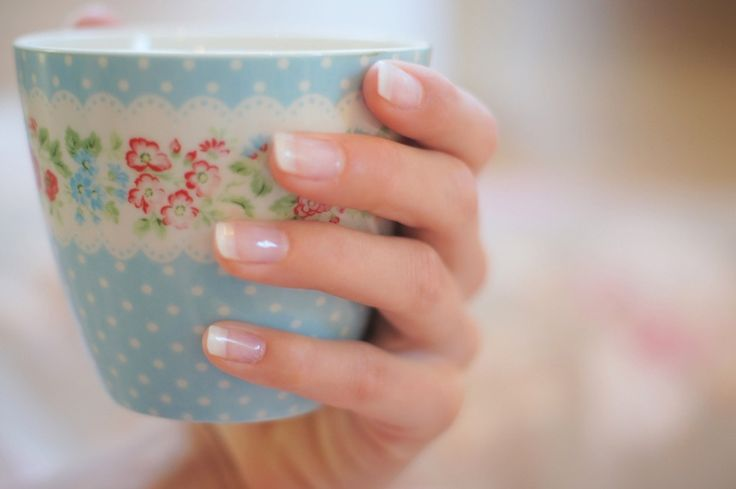 Pretty French manicure nails