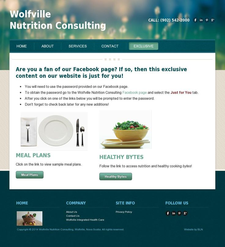 Get EXCLUSIVE content, including sample meal plans, online from Wolfville Nutrition. The web page pin from 'http://www.wolfvillenutrition.ca' is courtesy of @Pinstamatic (http://pinstamatic.com)