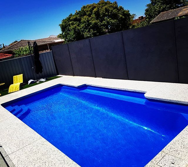 Another Pool Finished With Salt N Pepper One Of Many Limecretes Polished Ranges Our Clients Were Over The Moon With The Fin Pool Landscaping Pool Pool Designs