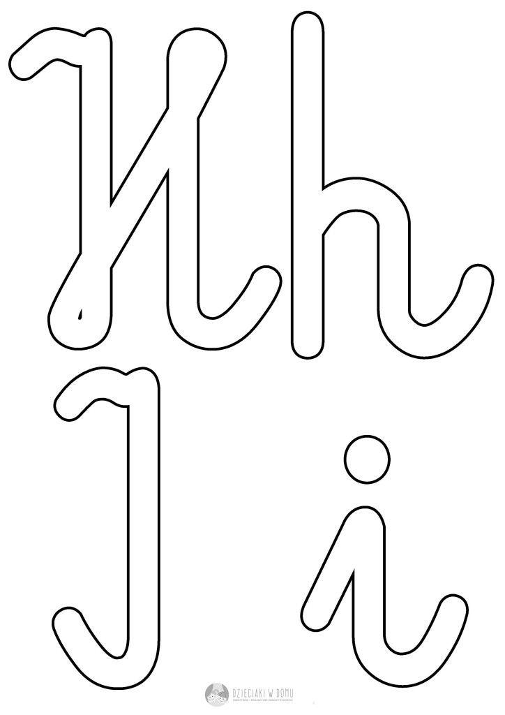 szablon liter H h I i