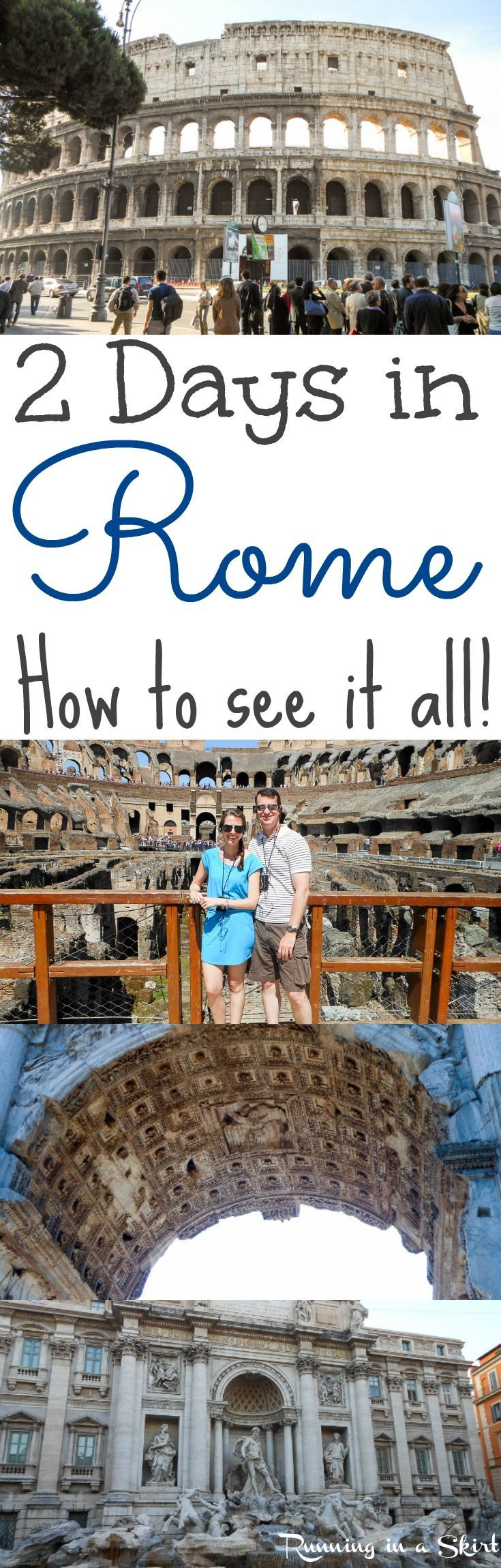 2 Days in Rome, Italy... what to see, do and eat! Great travel advice and tips to maximize your time in two days.  Beautiful places and things to do in a short adventure.  A bucket lists European destination. / Running in a Skirt