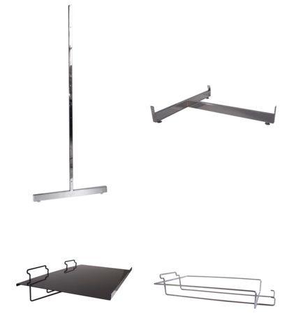 Slatwall Fixtures, Display Fittings, Hooks and More - http://www.idealdisplays.ca/04_slatwall_accessories.html