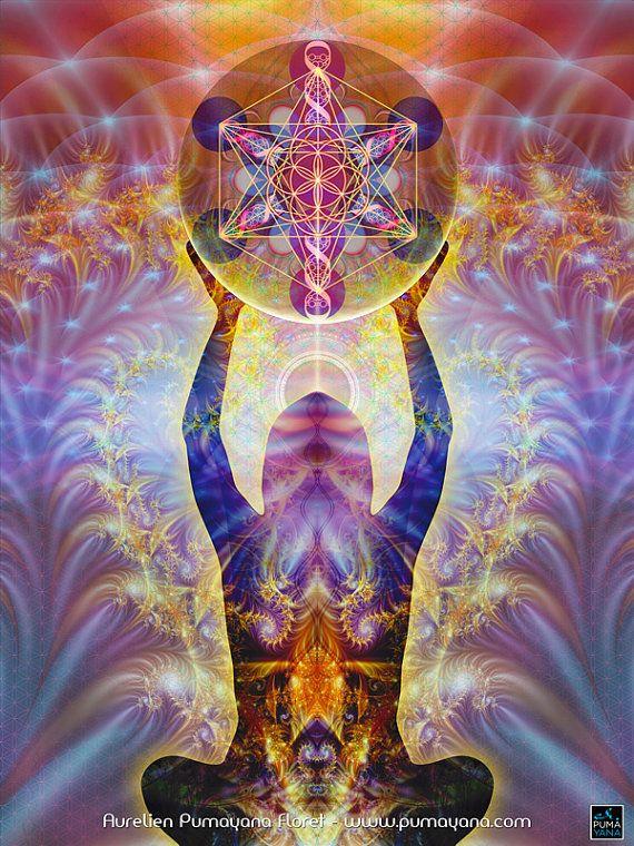 Alchemistische Körper - Alchemie - Gobelin, Wandbehang, werfen, Bett zu verbreiten - Heilung, Yoga, spirituelle Meditation Kunst, Heilige Geometrie