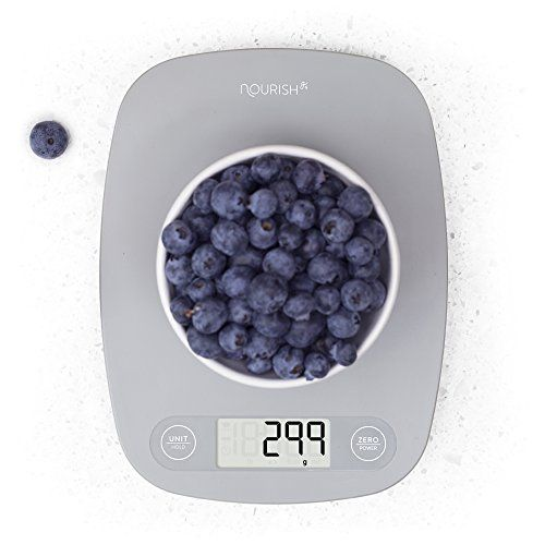 Digital Kitchen Scale / Food Scale - Ultra Slim, Multifunction, Easy to Clean, Large Display (grey) *** Click image to review more details.-It is an affiliate link to Amazon.