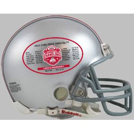 Ohio State Buckeyes 2014 National Champions Schedule NCAA Mini Football Helmet