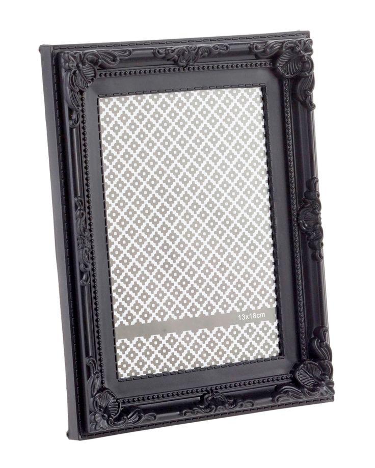 Bilderrahmen Barock, schwarz, 13 x 18 cm