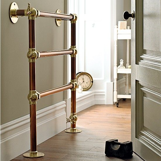 1pc Heated Towel Rail Holder Bathroom Accessories Towel: Copper Bathroom Towel Rail