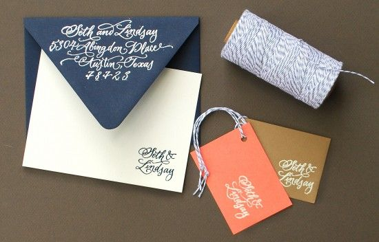 How to emboss white lettering onto navy stationery (or other colors). Get an expensive look at home.