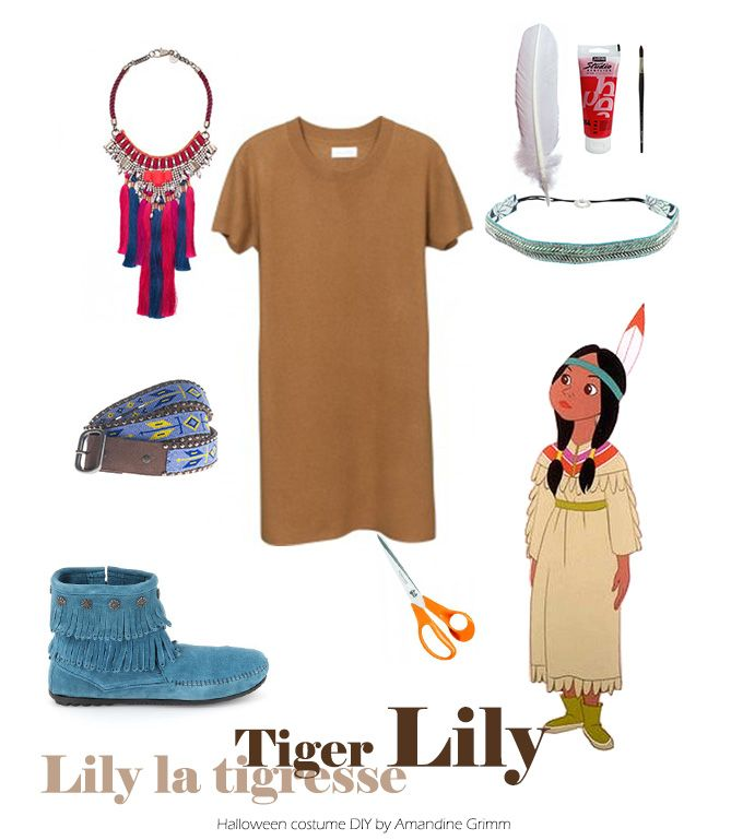 Tiger Lily, Peter Pan / Halloween costume idea DIY / Amandine Grimm