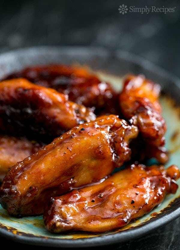 Bourbon Maple Glazed Chicken W... is listed (or ranked) 2 on the list Finger-Lickin' Chicken Wing Recipes
