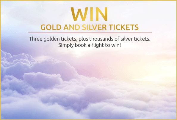 Golden Ticket Win Gold and Silver Tickets  During our fantastic Golden Ticket giveaway, everyone who makes a flight booking on Opodo is automatically entered to win.  Simply book your flight on Opodo before Monday 30 November and see if you've won a Gold or Silver Ticket for your next holiday in 2016.