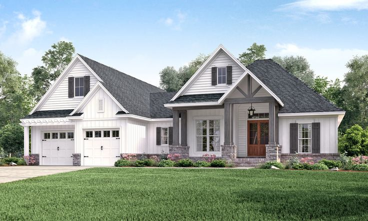 Plan #430-157 - Houseplans.com ****** 4 bed/3bath 2073 sq ft/1-level Butler's panty, bonus space, covered back porch, laundry connected to master closet, mud room, open concept